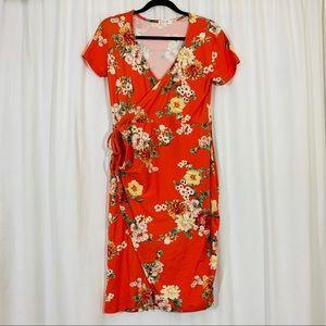 Stella Tweed | Floral Print Wrap Dress |